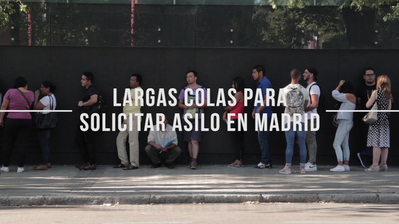 Largas colas para solicitar asilo en madrid youtube - Oficina de asilo y refugio ...