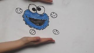 Cookie Monster Drawing Tutorial // Amby