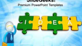 3d Jigsaw Puzzle Pieces With Idea Business Powerpoint Templates And Powerpoint Themes 0912