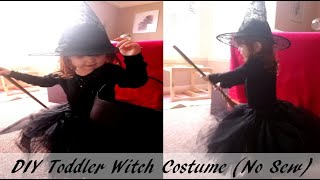 DIY Toddler Witch Costume