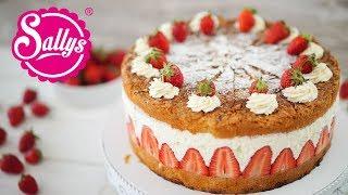 Erdbeer-Käsesahne-Bienenstich Torte