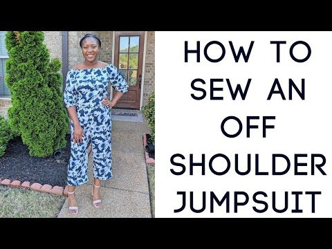 How to Sew an Easy DIY Off the Shoulder Jumpsuit