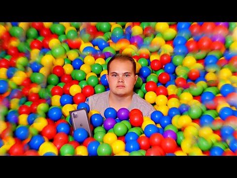 Find The IPHONE In The GIANT BALL PIT!