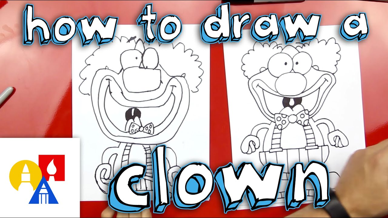 Uncategorized Art Pictures For Kids To Draw how to draw a clown youtube
