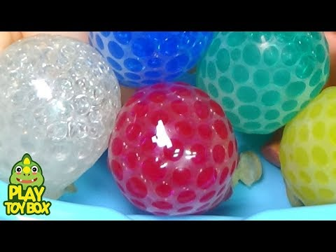 Orbeez Balloon Learn Colors Baby Doll Bath Time Squishy Stretchy Ball For Kids