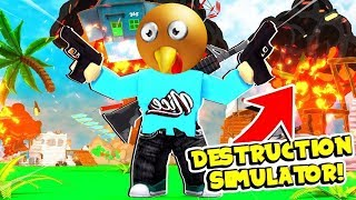 DESTROYING THANKSGIVING IN ROBLOX DESTRUCTION SIMULATOR