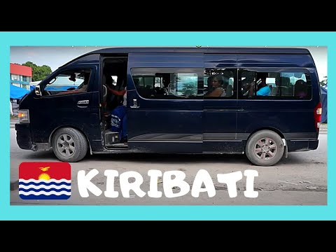 Wild bus ride in KIRIBATI (Gilbert Islands, Tarawa), Central Pacific Ocean