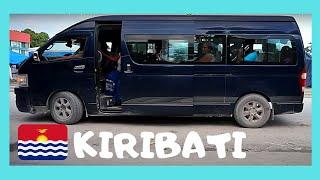 Wild bus ride in Kiribati (Gilbert Islands, Tarawa), Central Pacific Ocean
