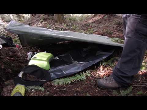 Survival Practice, Tarp Shelter - Eat Carbs pt2