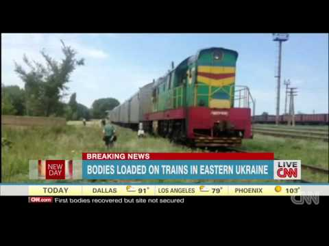 MH17 bodies allegedly loaded onto trains