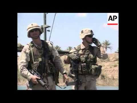 US troops begin patrolling the River Tigris