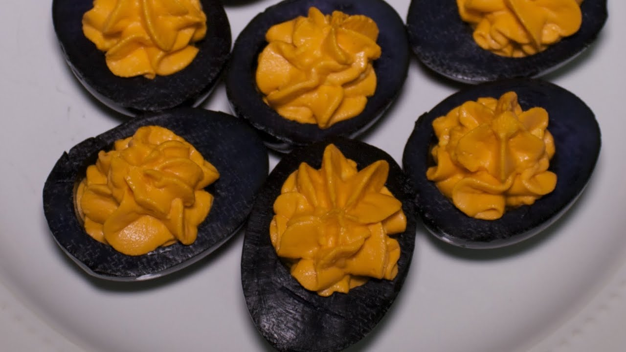 images of halloween deviled eggs
