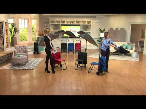 Rest N Roll Multipurpose Cart with Seat and Umbrella Attachment with Kerstin Lindquist