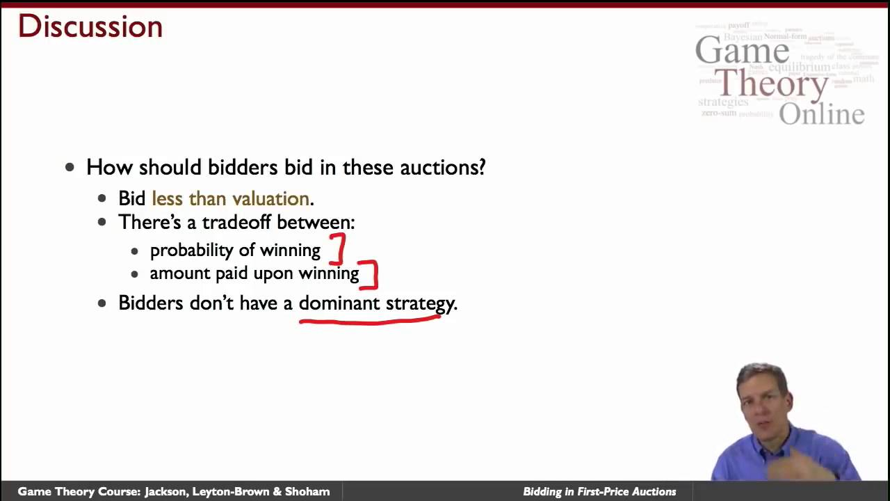 GTO2 4 04 Bidding In First Price Auctions Game Theory Online