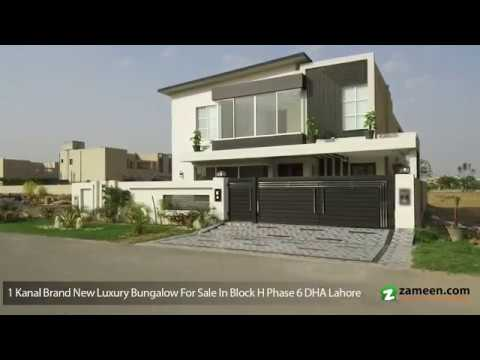 1 KANAL BRAND NEW LUXURY BUNGALOW FOR SALE IN BLOCK H PHASE 6 DHA LAHORE