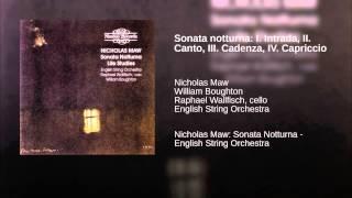 Sonata notturna: I. Intrada, II. Canto, III. Cadenza, IV. Capriccio