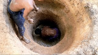 primitive tool searching for groundwater
