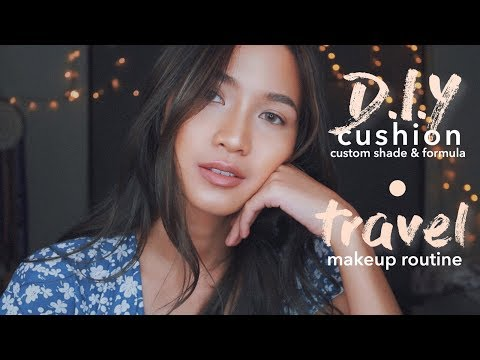 DIY CUSHION + EASY TRAVEL MAKEUP ROUTINE [BAHASA INDONESIA]