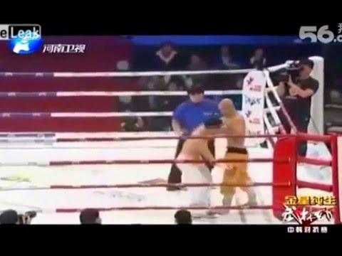 Бой Шаолиньского монаха Yi Long против мастера тайквондо подсечки
