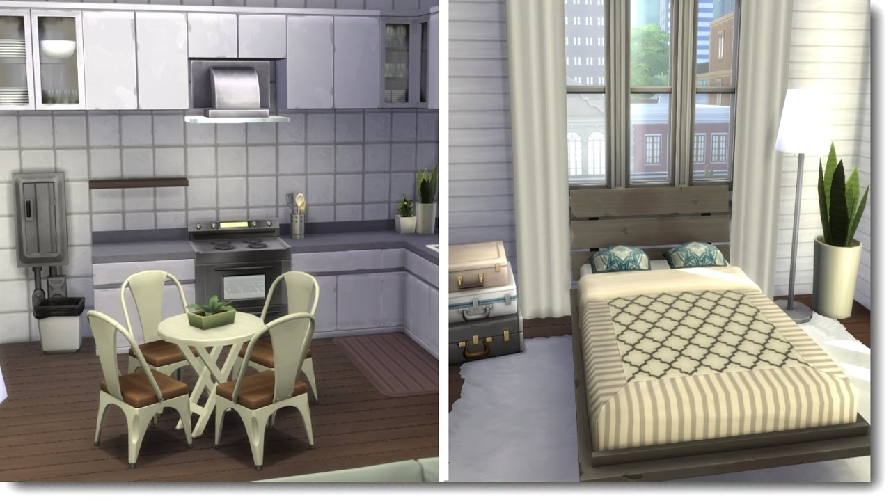 BUDGET APARTMENT RENOVATION | The Sims 4 Speed Build