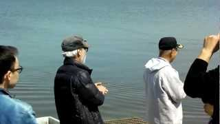 宮崎監督がCaproniCa60の飛行姿を一目見たいとの事でアルカスさんと福島...