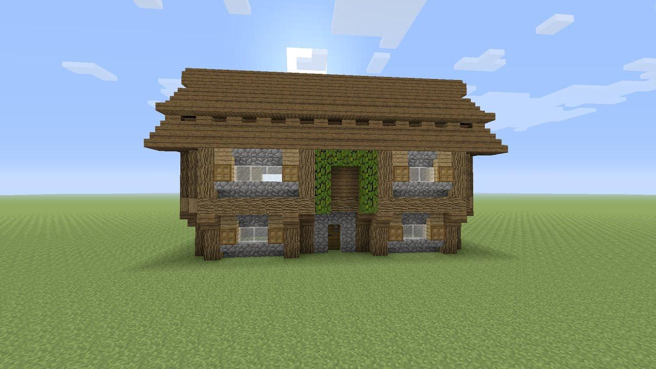 Minecraft een groot houten huis maken youtube for Huis maken minecraft