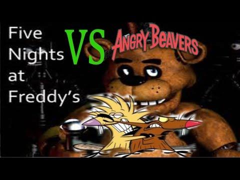 The Angry Beavers vs 5 NIghts a Freddys on Halloween night