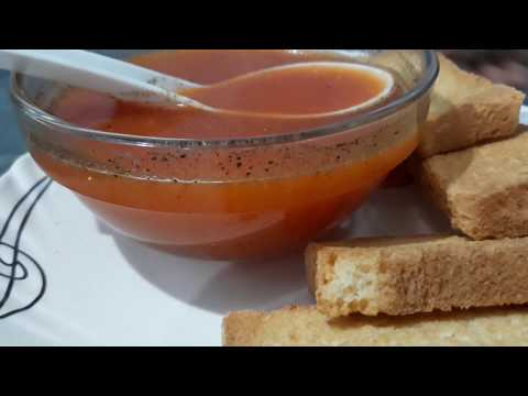 QUICK,HEALTHY AND EASY TOMATO SOUP AT HOME | HINDI | ENGLISH SUBTITLES