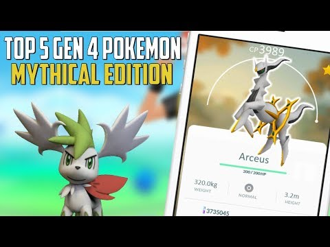 Top 5 Gen 4 Mythical Pokemon In Pokemon Go