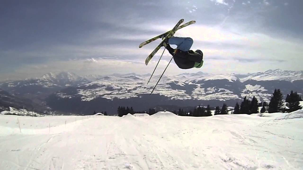 How to 360 on skis a ski addiction video tutorial. Working off.
