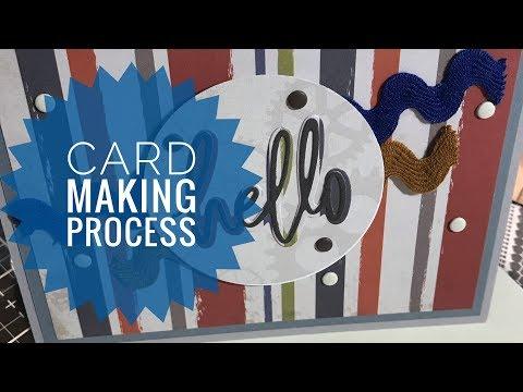 Card Making Process - Work Hard Play Hard - Carta Bella