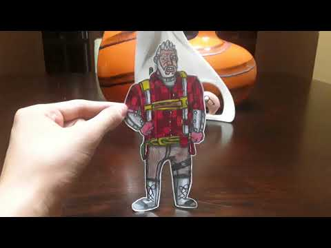 My Drawings of Fortnite Paper Cutouts