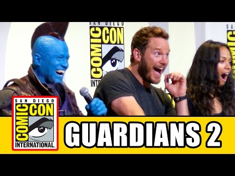 GUARDIANS OF THE GALAXY VOL. 2 Comic Con  Chris Pratt, Zoe Saldana, Karen Gillan, Dave Bautista