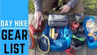 Backpacking Gear List for All Day Hike