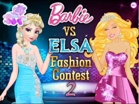 Elsa Vs Barbie 2 : Fashion Contest : Multiplayer Games For Girls