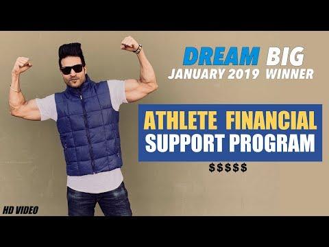 Athlete Financial Support Program - WINNER of Guru Mann DREAM BIG January 2019