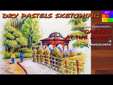 Dry Pastels Sketching | Landscape | Tutorial Lessons Video | beginners | techniques | ArtEWorld