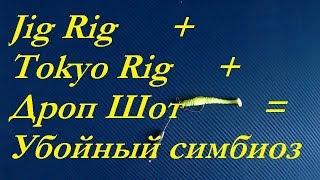 Монтаж для ловли судака и щуки.Jig Rig  Tokyo Rig  Дроп Шот  убойный симбиоз.