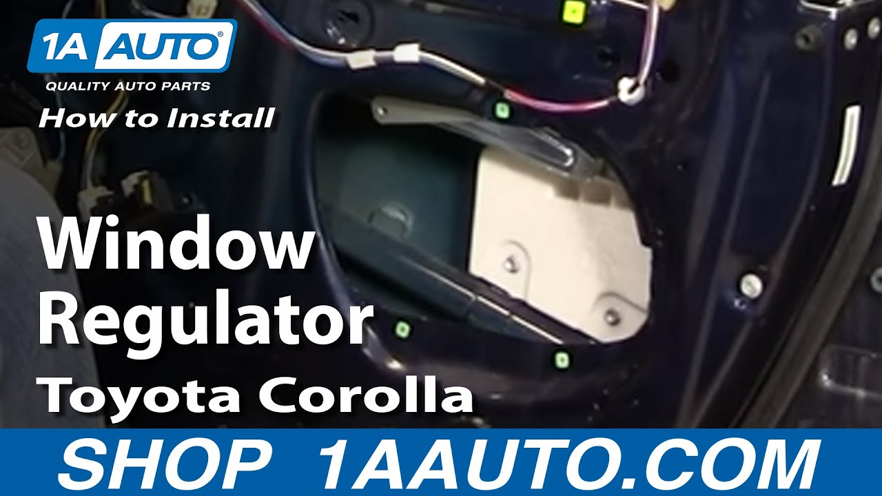 How To Replace Window Regulator 03 08 Toyota Corolla