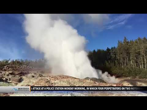 Yellowstone's Steamboat Geyser eruption