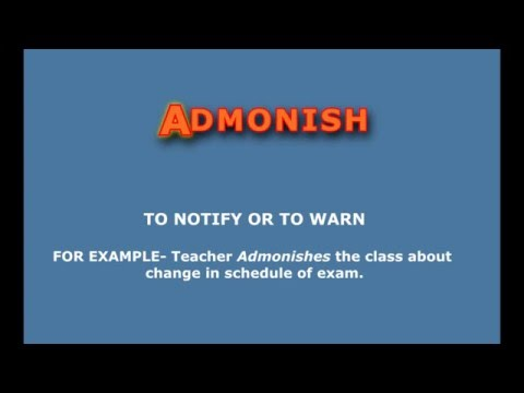 Admonish Meaning and Pronunciation in English
