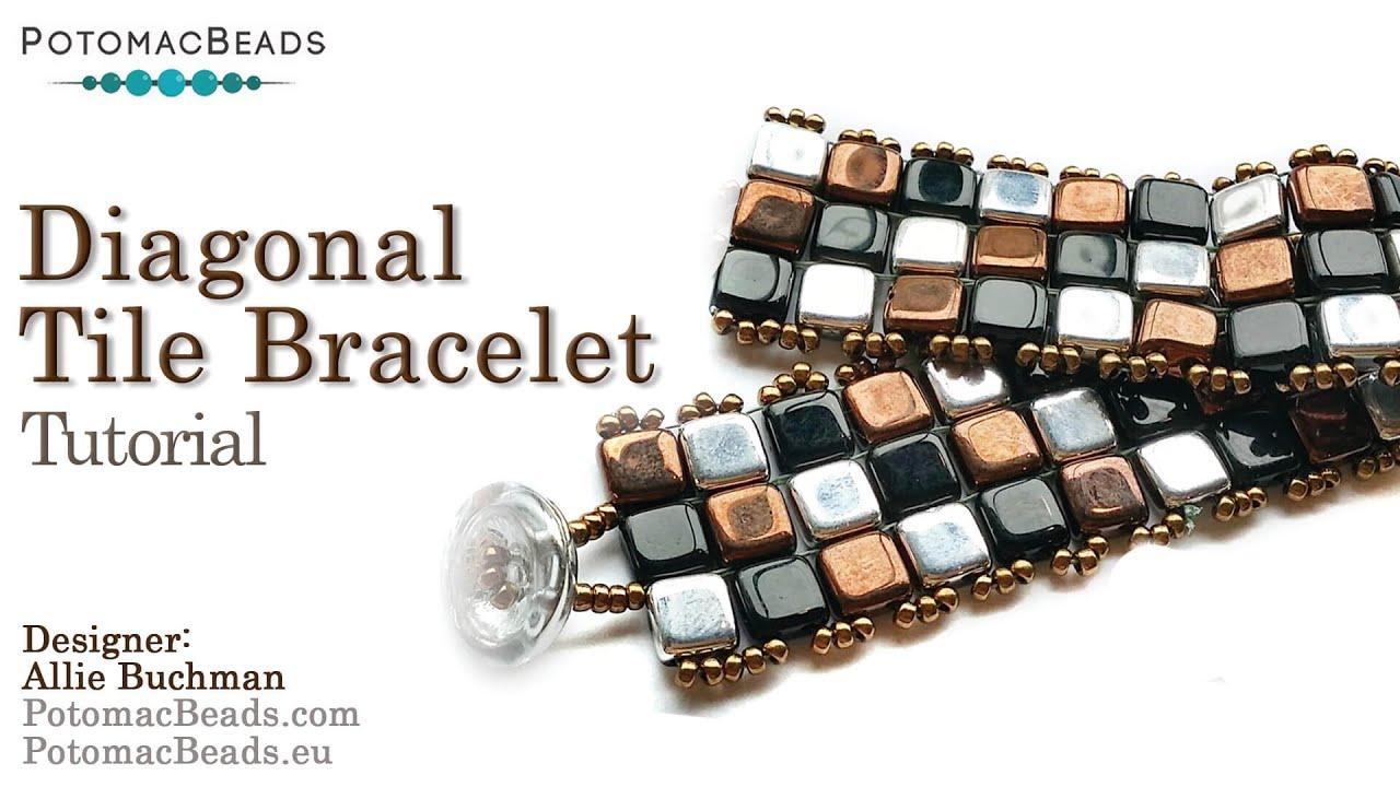 Make A Diagonal Tile Bracelet Youtube