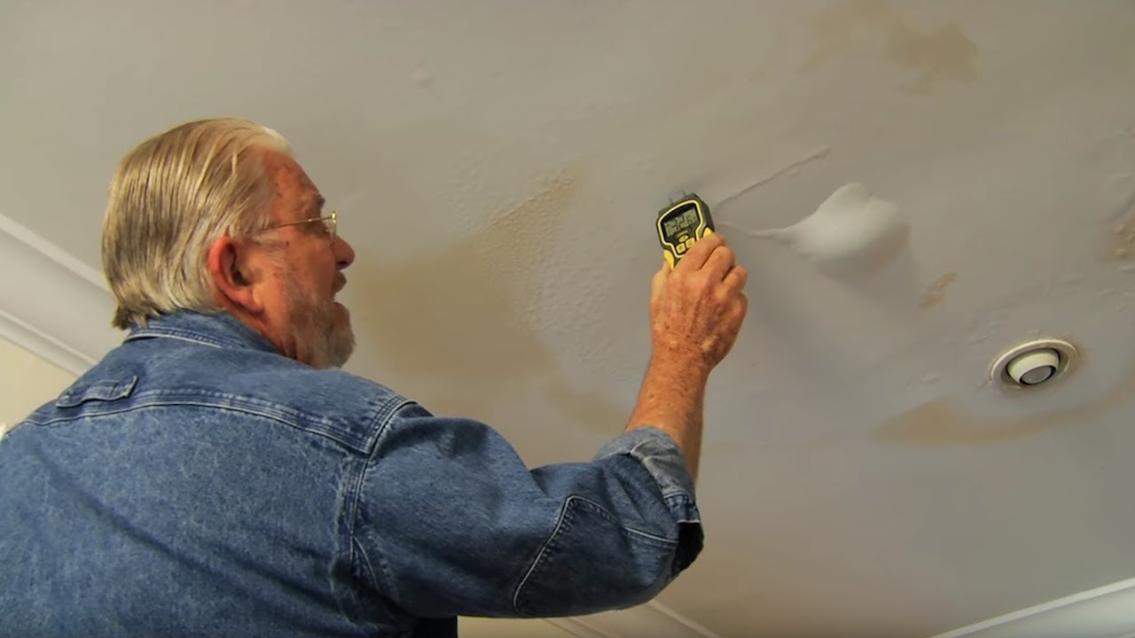 How To Use A Moisture Meter To Detect A Ceiling Leak Youtube