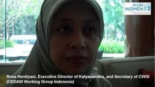 Indonesian Participants Interviewed during CEDAW Regional Workshop, Februar 2012