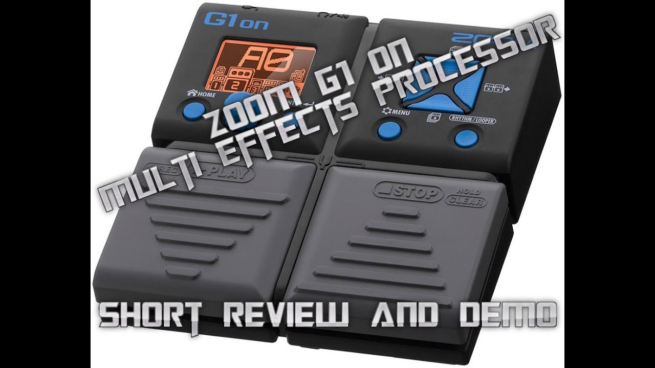zoom g1on multi effects guitar pedal review and short demo youtube. Black Bedroom Furniture Sets. Home Design Ideas