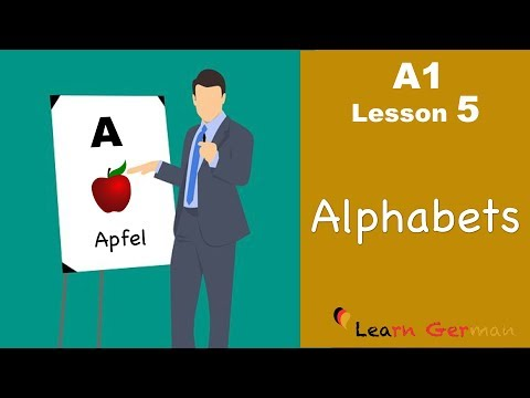 Learn German | Alphabets (ABC) | Buchstaben | German For Beginners | A1 - Lesson 5