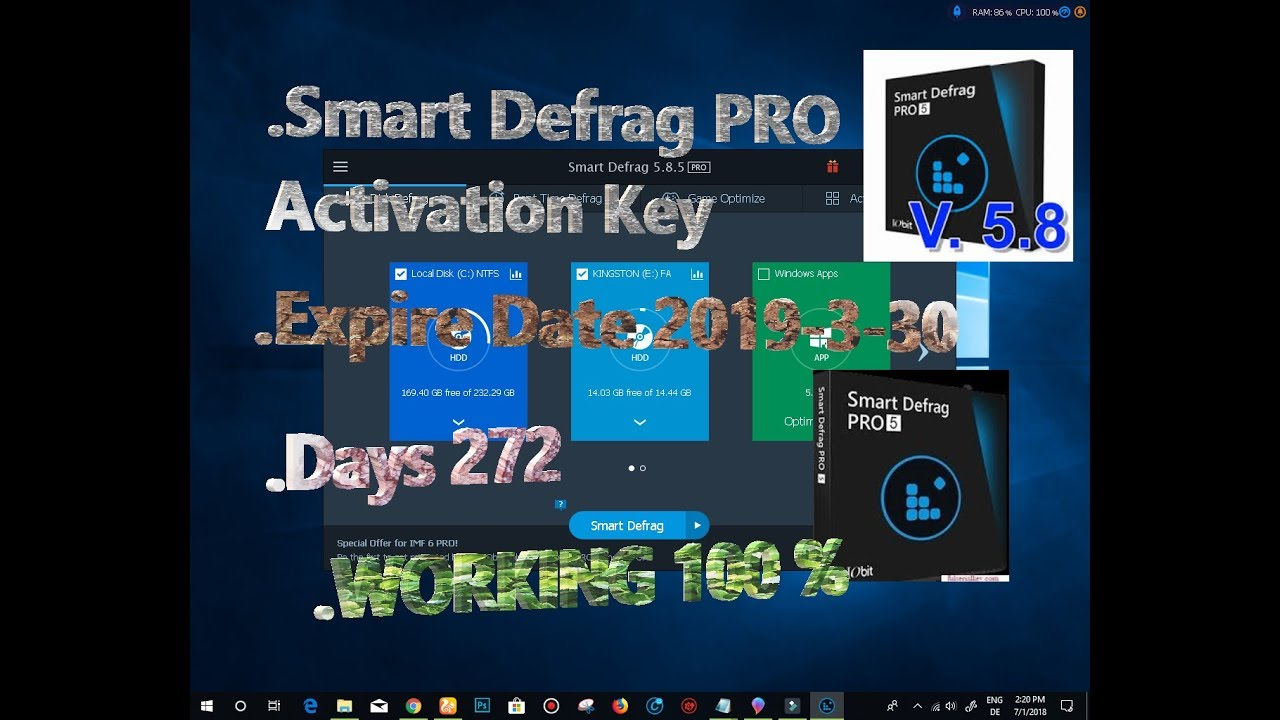 iobit smart defrag 6 key 2018