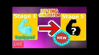 🔴💪🏻NEW STAGE 5!!! 💪🏻(Lifting Simulator RobloX)🔴