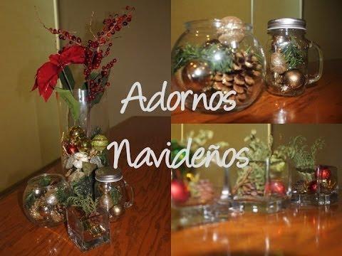 Adornos elegantes sencillos para navidad youtube for Adornos de navidad para hacer en casa