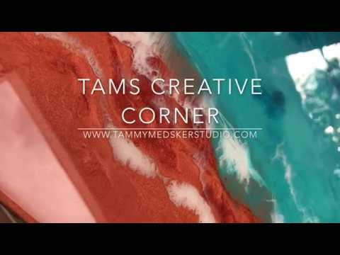 "How To Create A Resin Seascape Ocean Abstract, ""Copper Beach"" Tutorial"